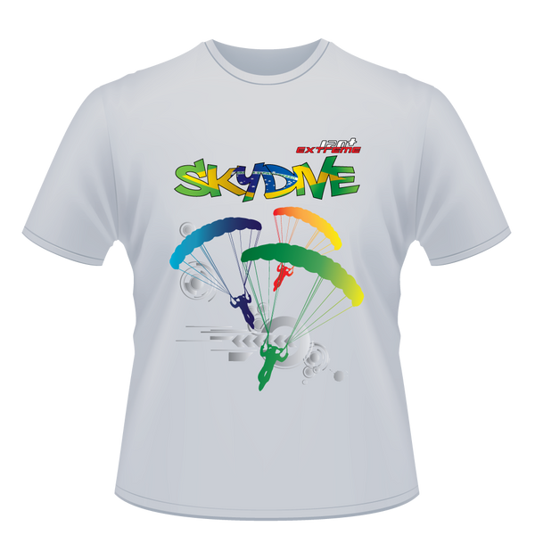 Skydiving T-shirts - Skydive World All Over - BRAZIL - Cotton Tee -, Shirts, eXtreme 120+™ Skydiving Apparel, Skydiving Apparel, Skydiving Apparel, Skydiving Gear, Olympics, T-Shirts, Skydive Chicago, Skydive City, Skydive Perris, Drop Zone Apparel, USPA, united states parachute association, Freefly, BASE, World Record,