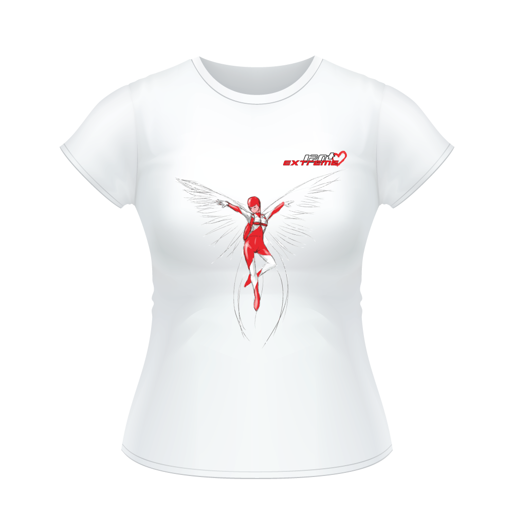 Skydiving T-shirts I Love Skydive - Freefly - Short Sleeve Women's T-shirt, Shirts, eXtreme 120+™ Skydiving Apparel, eXtreme 120+™ Skydiving Apparel, Skydiving Apparel, Skydiving Gear, Olympics, T-Shirts, Skydive Chicago, Skydive City, Skydive Perris, Drop Zone Apparel, USPA, united states parachute association, Freefly, BASE, World Record,