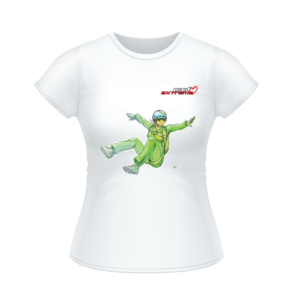 Skydiving T-shirts I Love Skydive - Sit-Fly - Short Sleeve Women's T-shirt, Shirts, Skydiving Apparel, Skydiving Apparel, Skydiving Apparel, Skydiving Gear, Olympics, T-Shirts, Skydive Chicago, Skydive City, Skydive Perris, Drop Zone Apparel, USPA, united states parachute association, Freefly, BASE, World Record,