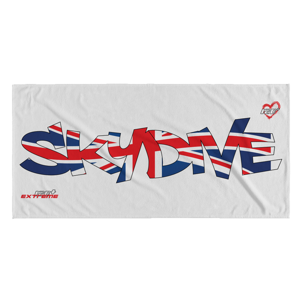 Skydiving T-shirts World Team - Skydive United Kingdom - Beach Towels in 10 Colors, Beach Towel, teelaunch, Skydiving Apparel, Skydiving Apparel, Skydiving Gear, Olympics, T-Shirts, Skydive Chicago, Skydive City, Skydive Perris, Drop Zone Apparel, USPA, united states parachute association, Freefly, BASE, World Record,