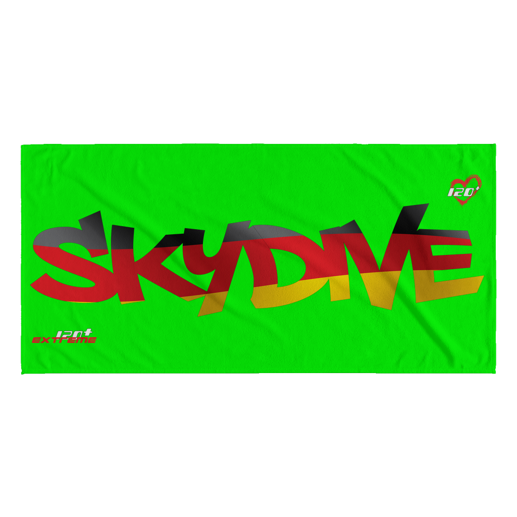 Skydiving T-shirts World Team - Skydive Germany - Beach Towels in 10 Colors, Beach Towel, teelaunch, Skydiving Apparel, Skydiving Apparel, Skydiving Gear, Olympics, T-Shirts, Skydive Chicago, Skydive City, Skydive Perris, Drop Zone Apparel, USPA, united states parachute association, Freefly, BASE, World Record,