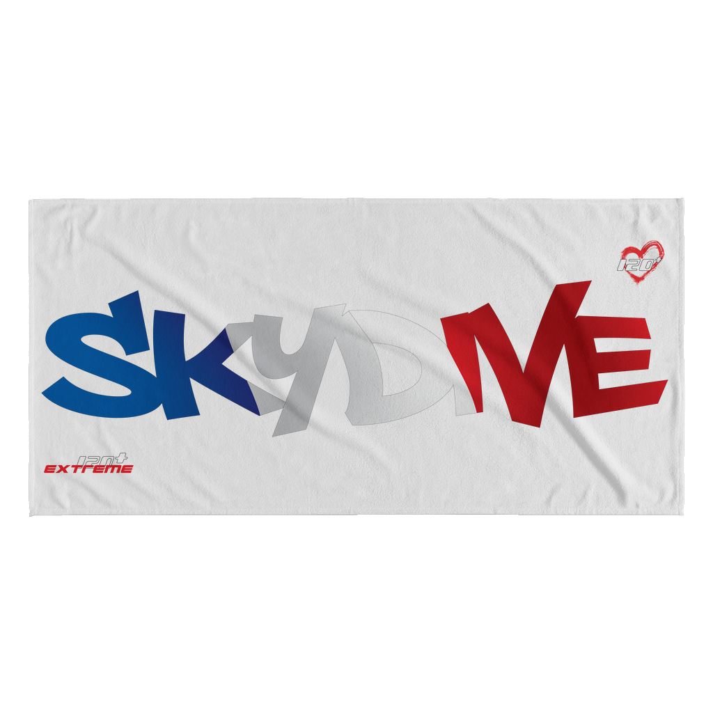 Skydiving T-shirts World Team - Skydive France - Beach Towels in 10 Colors, Beach Towel, teelaunch, Skydiving Apparel, Skydiving Apparel, Skydiving Gear, Olympics, T-Shirts, Skydive Chicago, Skydive City, Skydive Perris, Drop Zone Apparel, USPA, united states parachute association, Freefly, BASE, World Record,