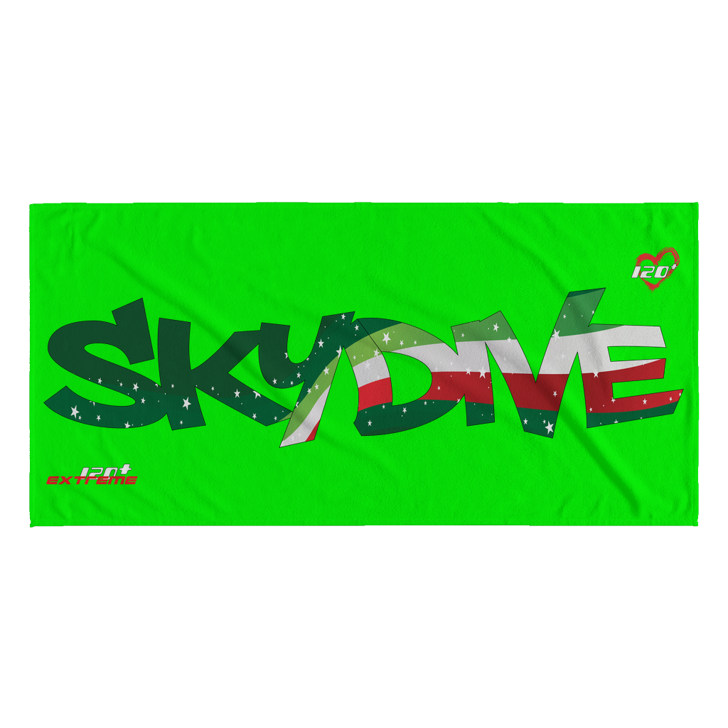 Skydiving T-shirts World Team - Skydive Italy - Beach Towels in 10 Colors, Beach Towel, teelaunch, Skydiving Apparel, Skydiving Apparel, Skydiving Gear, Olympics, T-Shirts, Skydive Chicago, Skydive City, Skydive Perris, Drop Zone Apparel, USPA, united states parachute association, Freefly, BASE, World Record,