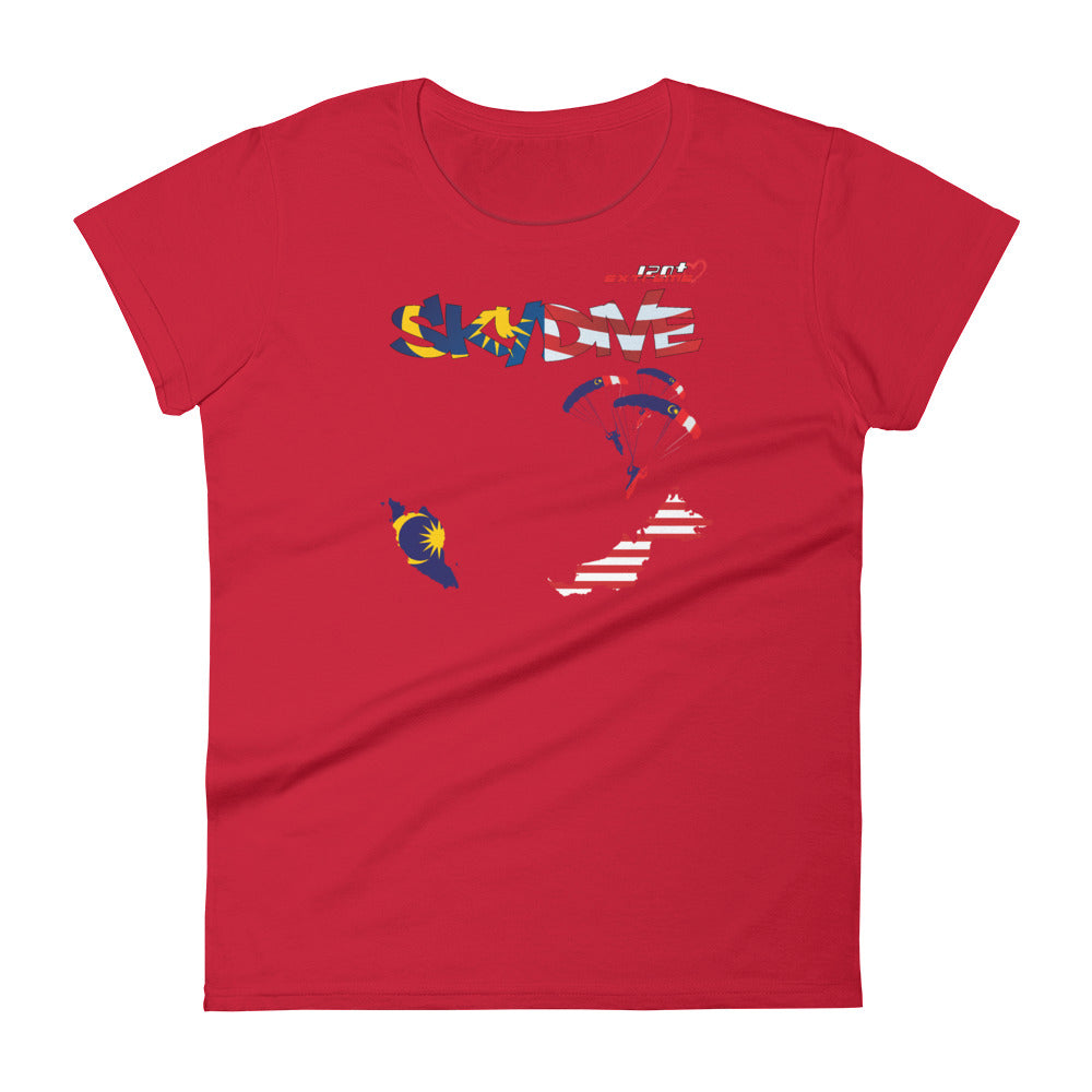 Skydiving T-shirts - Skydive All World - MALAYSIA - Ladies' Tee -, Shirts, Skydiving Apparel, Skydiving Apparel, Skydiving Apparel, Skydiving Gear, Olympics, T-Shirts, Skydive Chicago, Skydive City, Skydive Perris, Drop Zone Apparel, USPA, united states parachute association, Freefly, BASE, World Record,