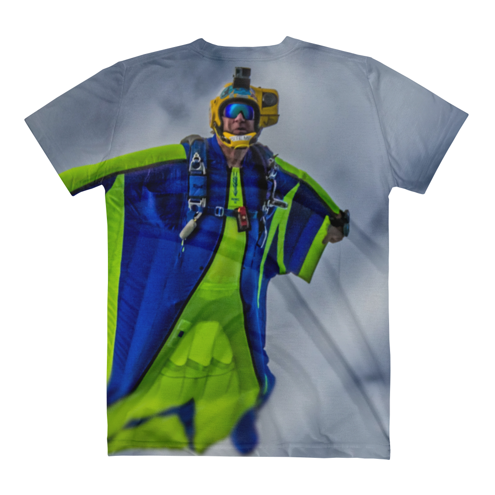 Skydiving T-shirts - Tony Suits - Bite Me - Women's V-Neck Tee -, Women's All-Over, eXtreme 120+™ Skydiving Apparel, eXtreme 120+™ Skydiving Apparel, Skydiving Apparel, Skydiving Gear, Olympics, T-Shirts, Skydive Chicago, Skydive City, Skydive Perris, Drop Zone Apparel, USPA, united states parachute association, Freefly, BASE, World Record,