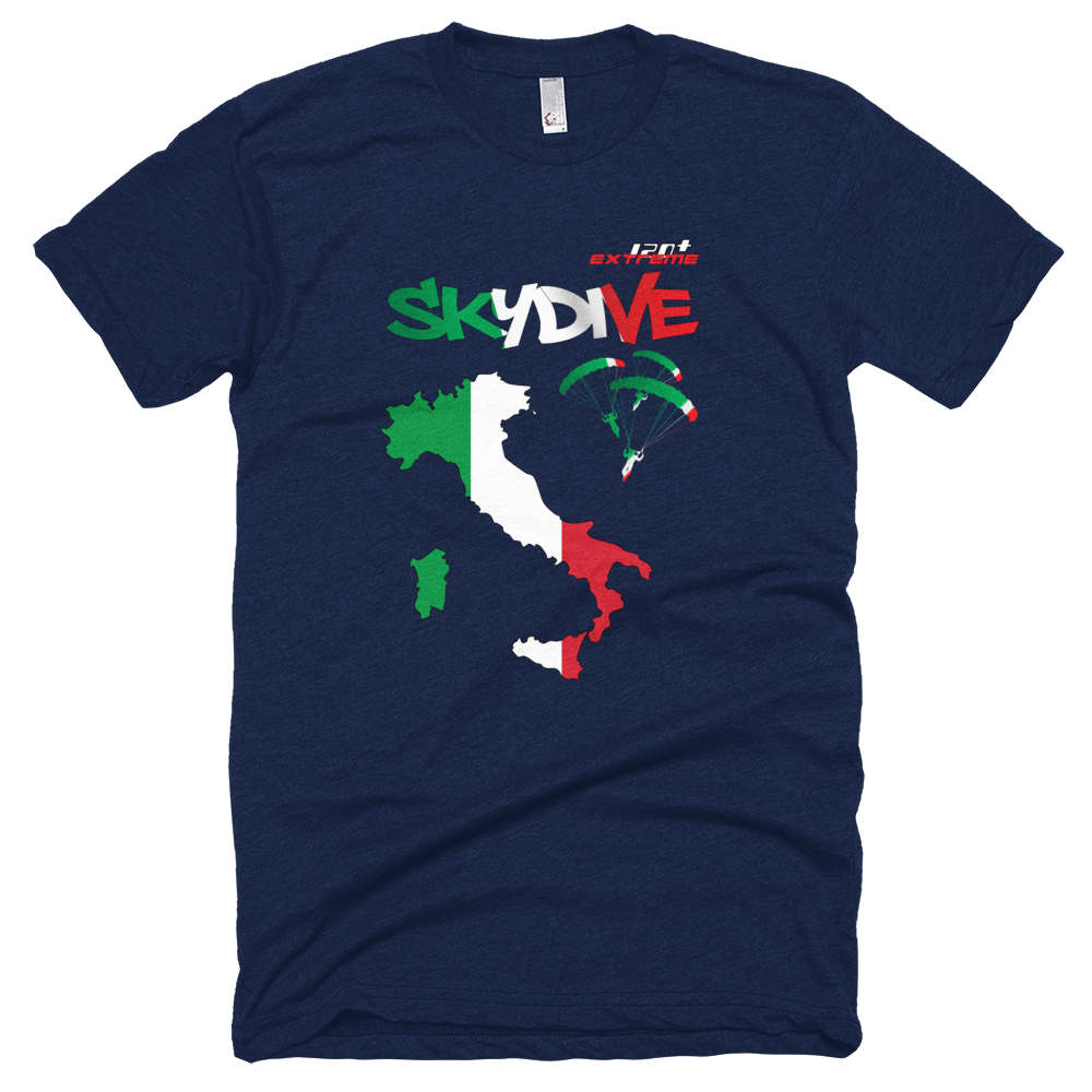 Skydiving T-shirts - Skydive All World - ITALY - Unisex Tee -, T-shirt, eXtreme 120+™ Skydiving Apparel, Skydiving Apparel, Skydiving Apparel, Skydiving Gear, Olympics, T-Shirts, Skydive Chicago, Skydive City, Skydive Perris, Drop Zone Apparel, USPA, united states parachute association, Freefly, BASE, World Record,