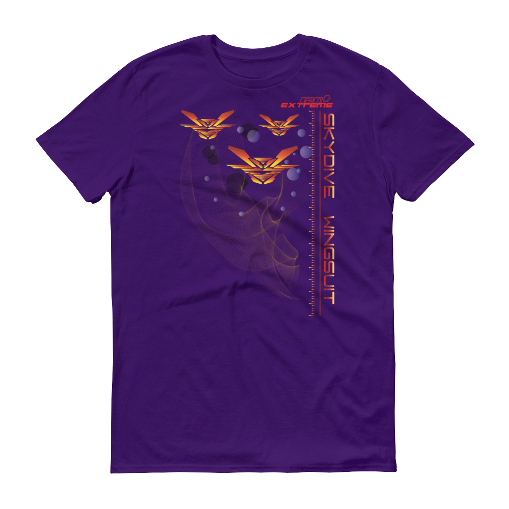 Skydiving T-shirts Skydive WINGSUIT - Men`s Colored T-Shirts, Men's Colored Tees, eXtreme 120+™ Skydiving Apparel, eXtreme 120+™ Skydiving Apparel, Skydiving Apparel, Skydiving Gear, Olympics, T-Shirts, Skydive Chicago, Skydive City, Skydive Perris, Drop Zone Apparel, USPA, united states parachute association, Freefly, BASE, World Record,