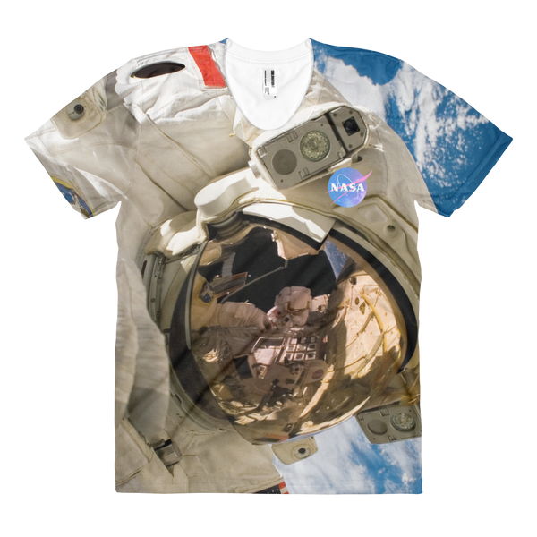 Skydiving T-shirts NASA - Astronaut - USA - Women's sublimation t-shirt, T-shirt, Skydiving Apparel, Skydiving Apparel, Skydiving Apparel, Skydiving Gear, Olympics, T-Shirts, Skydive Chicago, Skydive City, Skydive Perris, Drop Zone Apparel, USPA, united states parachute association, Freefly, BASE, World Record,