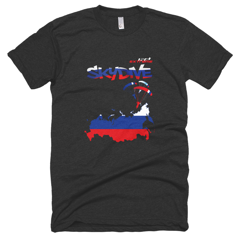 Skydiving T-shirts - Skydive All World - RUSSIA - Unisex Tee -, Shirts, Skydiving Apparel, Skydiving Apparel, Skydiving Apparel, Skydiving Gear, Olympics, T-Shirts, Skydive Chicago, Skydive City, Skydive Perris, Drop Zone Apparel, USPA, united states parachute association, Freefly, BASE, World Record,