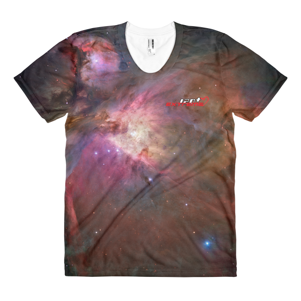 Skydiving T-shirts SPACE - Hubble's Orion Nebula - Women's sublimation t-shirt, T-shirt, Skydiving Apparel, Skydiving Apparel, Skydiving Apparel, Skydiving Gear, Olympics, T-Shirts, Skydive Chicago, Skydive City, Skydive Perris, Drop Zone Apparel, USPA, united states parachute association, Freefly, BASE, World Record,