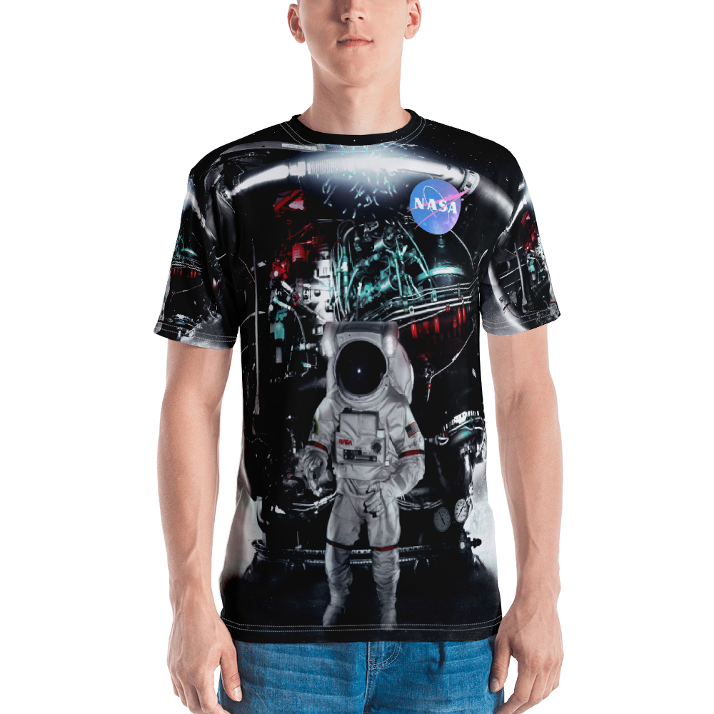 Skydiving T-shirts NASA - Astronaut in Darkness and Meteors - Short sleeve men's t-shirt, T-shirt, Skydiving Apparel, Skydiving Apparel, Skydiving Apparel, Skydiving Gear, Olympics, T-Shirts, Skydive Chicago, Skydive City, Skydive Perris, Drop Zone Apparel, USPA, united states parachute association, Freefly, BASE, World Record,