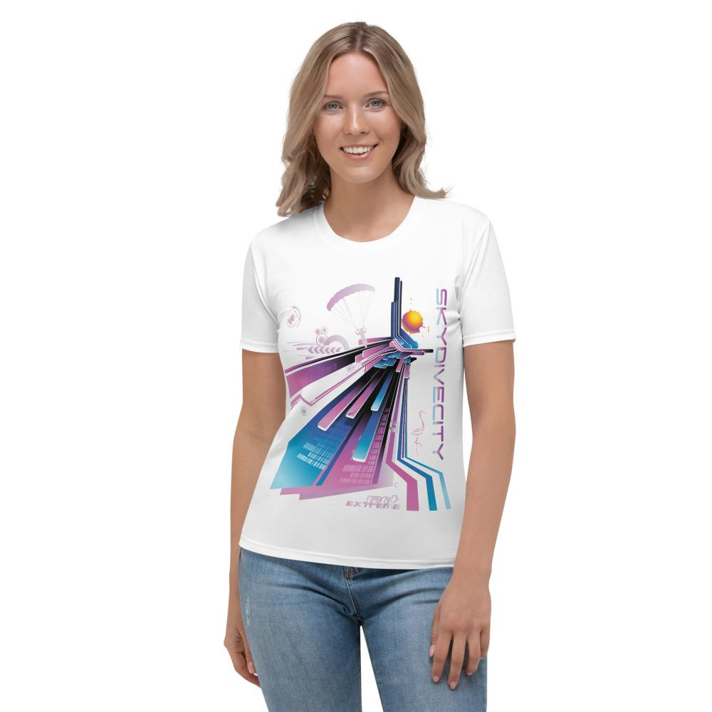 Skydiving T-shirts - Skydive City - Flamingo - Women's Tee -, Shirts, Skydiving Apparel, Skydiving Apparel, Skydiving Apparel, Skydiving Gear, Olympics, T-Shirts, Skydive Chicago, Skydive City, Skydive Perris, Drop Zone Apparel, USPA, united states parachute association, Freefly, BASE, World Record,