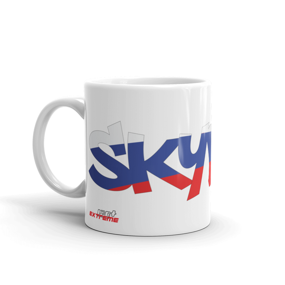 Skydiving T-shirts Skydiving Mug Team Russia, White Mugs, Skydiving Apparel, Skydiving Apparel, Skydiving Apparel, Skydiving Gear, Olympics, T-Shirts, Skydive Chicago, Skydive City, Skydive Perris, Drop Zone Apparel, USPA, united states parachute association, Freefly, BASE, World Record,