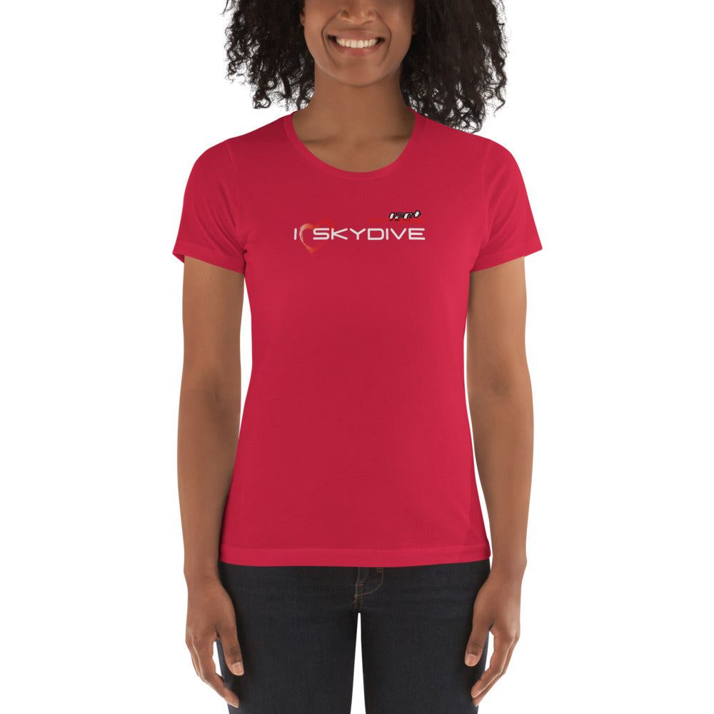 Skydiving T-shirts I ♡ Skydive - First Jump - eXtreme(RED) - Short Sleeve Women's T-shirt, RED, Skydiving Apparel, Skydiving Apparel, Skydiving Apparel, Skydiving Gear, Olympics, T-Shirts, Skydive Chicago, Skydive City, Skydive Perris, Drop Zone Apparel, USPA, united states parachute association, Freefly, BASE, World Record,