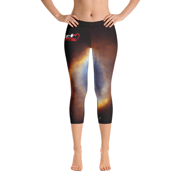 Skydiving T-shirts Galaxy - Glory of Helix Nebula - Capri Leggings, Leggings, eXtreme 120+™ Skydiving Apparel, eXtreme 120+™ Skydiving Apparel, Skydiving Apparel, Skydiving Gear, Olympics, T-Shirts, Skydive Chicago, Skydive City, Skydive Perris, Drop Zone Apparel, USPA, united states parachute association, Freefly, BASE, World Record,