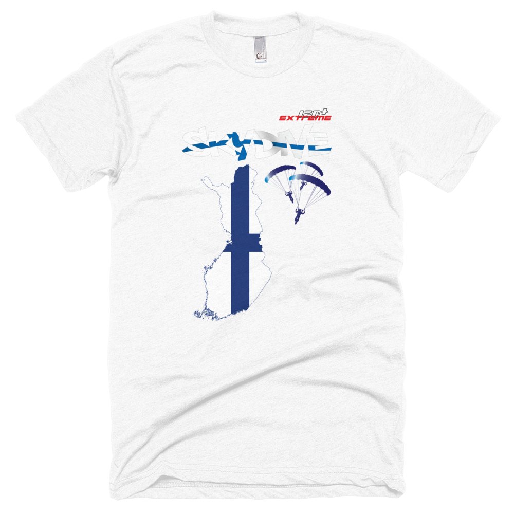 Skydiving T-shirts - Skydive All World - FINLAND - Unisex Tee -, T-shirt, eXtreme 120+™ Skydiving Apparel, eXtreme 120+™ Skydiving Apparel, Skydiving Apparel, Skydiving Gear, Olympics, T-Shirts, Skydive Chicago, Skydive City, Skydive Perris, Drop Zone Apparel, USPA, united states parachute association, Freefly, BASE, World Record,