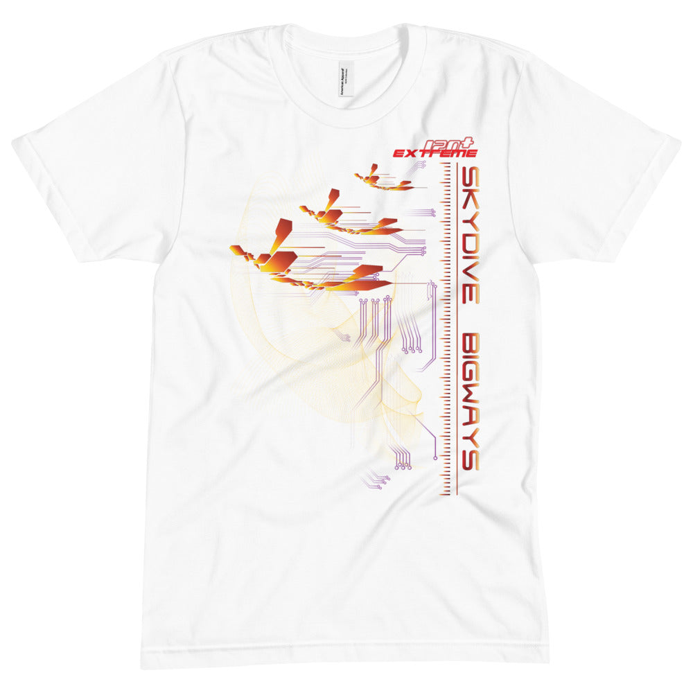 Skydiving T-shirts - Skydiving T-Shirt - Skydive BIGWAYS - Unisex Crew Neck Tee, Shirts, Skydiving Apparel, Skydiving Apparel, Skydiving Apparel, Skydiving Gear, Olympics, T-Shirts, Skydive Chicago, Skydive City, Skydive Perris, Drop Zone Apparel, USPA, united states parachute association, Freefly, BASE, World Record,