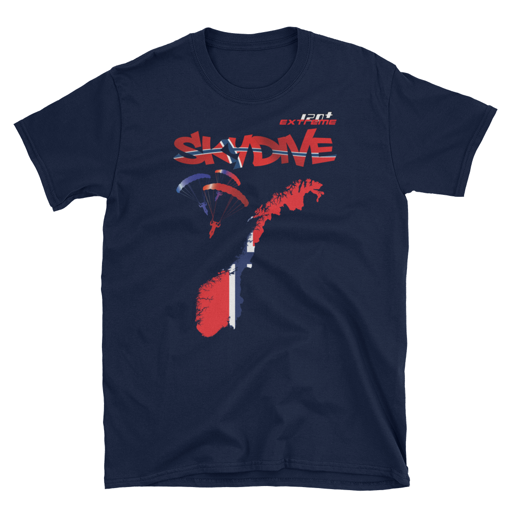 Skydiving T-shirts - Skydive World - NORWAY - Cotton Tee -, Shirts, Skydiving Apparel, Skydiving Apparel, Skydiving Apparel, Skydiving Gear, Olympics, T-Shirts, Skydive Chicago, Skydive City, Skydive Perris, Drop Zone Apparel, USPA, united states parachute association, Freefly, BASE, World Record,