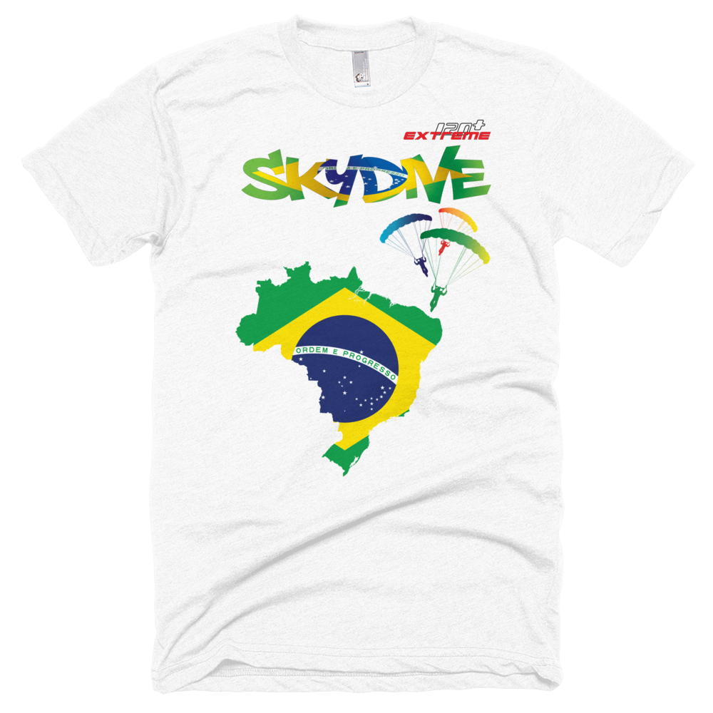Skydiving T-shirts - Skydive All World - BRAZIL - Unisex Tee -, T-shirt, eXtreme 120+™ Skydiving Apparel, Skydiving Apparel, Skydiving Apparel, Skydiving Gear, Olympics, T-Shirts, Skydive Chicago, Skydive City, Skydive Perris, Drop Zone Apparel, USPA, united states parachute association, Freefly, BASE, World Record,