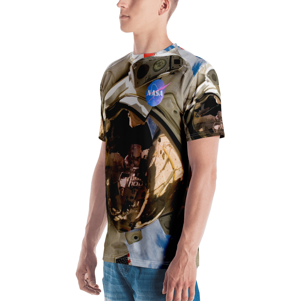 Skydiving T-shirts NASA - Astronaut - USA - Short sleeve men's t-shirt, T-shirt, SkydivingApparel™, Skydiving Apparel, Skydiving Apparel, Skydiving Gear, Olympics, T-Shirts, Skydive Chicago, Skydive City, Skydive Perris, Drop Zone Apparel, USPA, united states parachute association, Freefly, BASE, World Record,