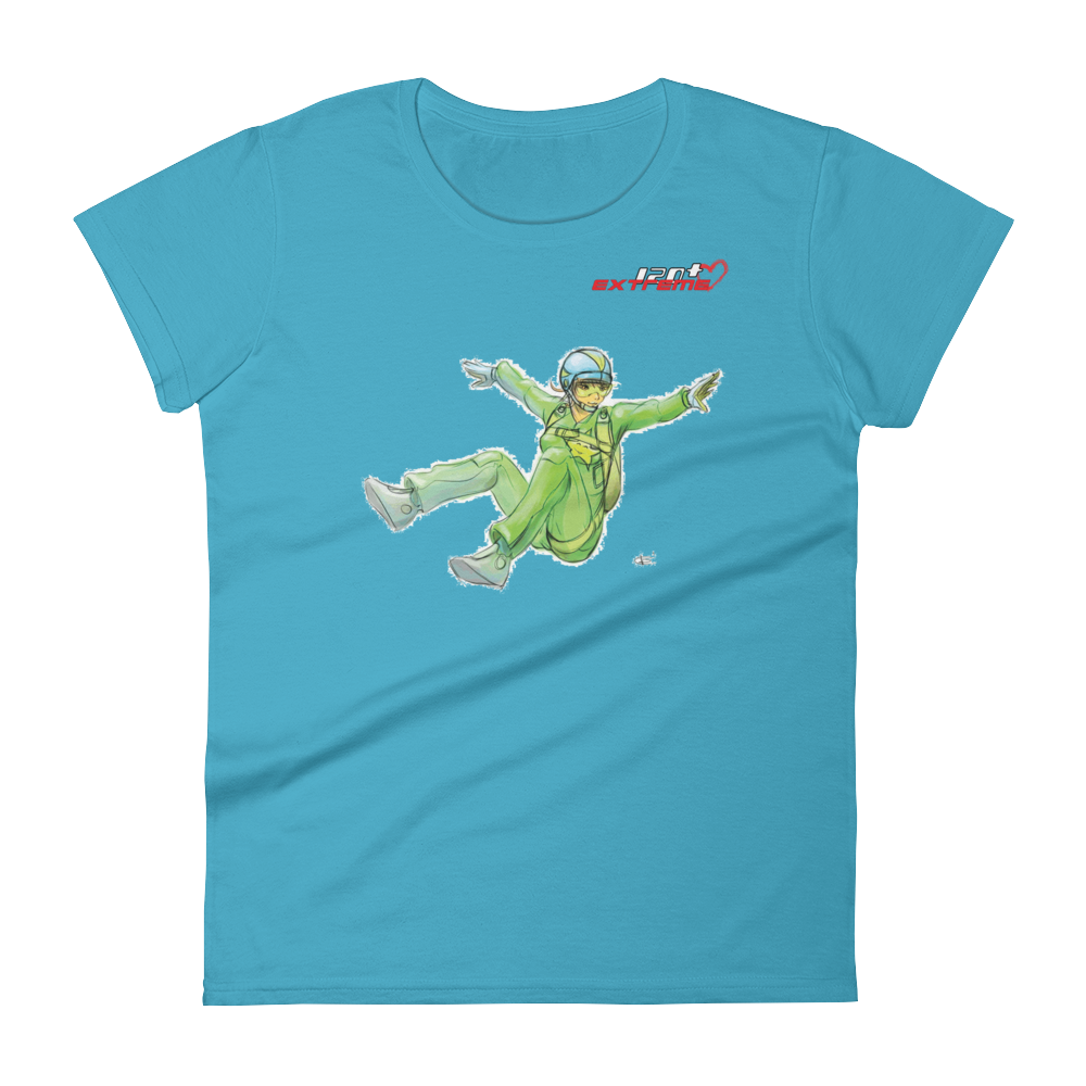 Skydiving T-shirts I Love Skydive - Sit-Fly - Short Sleeve Women's T-shirt, Shirts, eXtreme 120+™ Skydiving Apparel, eXtreme 120+™ Skydiving Apparel, Skydiving Apparel, Skydiving Gear, Olympics, T-Shirts, Skydive Chicago, Skydive City, Skydive Perris, Drop Zone Apparel, USPA, united states parachute association, Freefly, BASE, World Record,