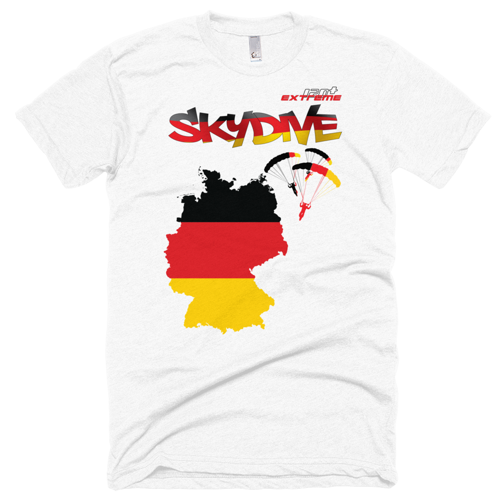Skydiving T-shirts - Skydive All World - GERMANY - Unisex Tee -, Shirts, Skydiving Apparel, Skydiving Apparel, Skydiving Apparel, Skydiving Gear, Olympics, T-Shirts, Skydive Chicago, Skydive City, Skydive Perris, Drop Zone Apparel, USPA, united states parachute association, Freefly, BASE, World Record,