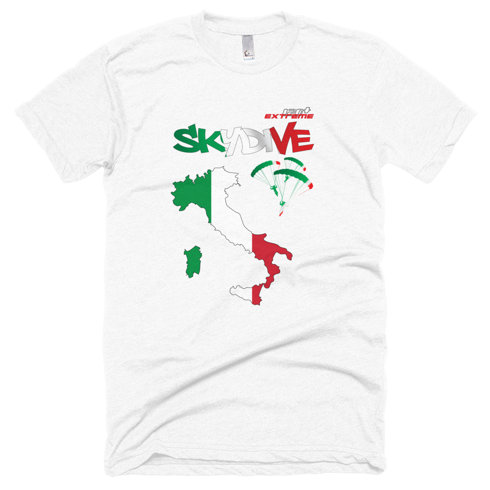 Skydiving T-shirts - Skydive All World - ITALY - Unisex Tee -, T-shirt, eXtreme 120+™ Skydiving Apparel, eXtreme 120+™ Skydiving Apparel, Skydiving Apparel, Skydiving Gear, Olympics, T-Shirts, Skydive Chicago, Skydive City, Skydive Perris, Drop Zone Apparel, USPA, united states parachute association, Freefly, BASE, World Record,