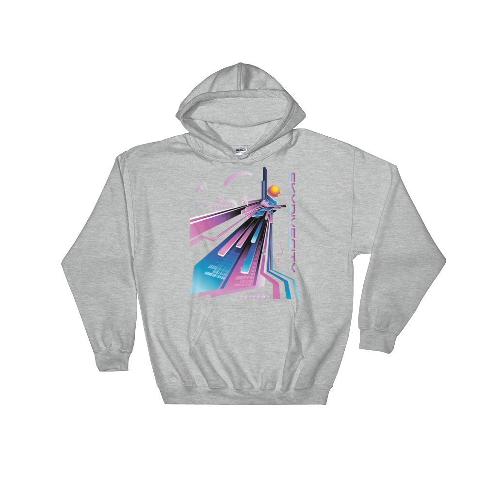 Skydiving T-shirts Skydiving Hoodie - Skydive City - Flamingo - Unisex Hooded Sweatshirt, Hoodies, eXtreme 120+™ Skydiving Apparel, eXtreme 120+™ Skydiving Apparel, Skydiving Apparel, Skydiving Gear, Olympics, T-Shirts, Skydive Chicago, Skydive City, Skydive Perris, Drop Zone Apparel, USPA, united states parachute association, Freefly, BASE, World Record,