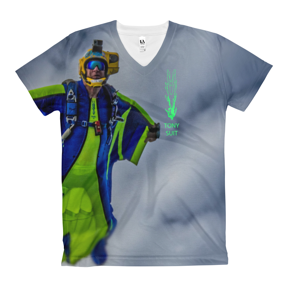 Skydiving T-shirts - Tony Suits - Bite Me - Women's V-Neck Tee -, Women's All-Over, Skydiving Apparel, Skydiving Apparel, Skydiving Apparel, Skydiving Gear, Olympics, T-Shirts, Skydive Chicago, Skydive City, Skydive Perris, Drop Zone Apparel, USPA, united states parachute association, Freefly, BASE, World Record,
