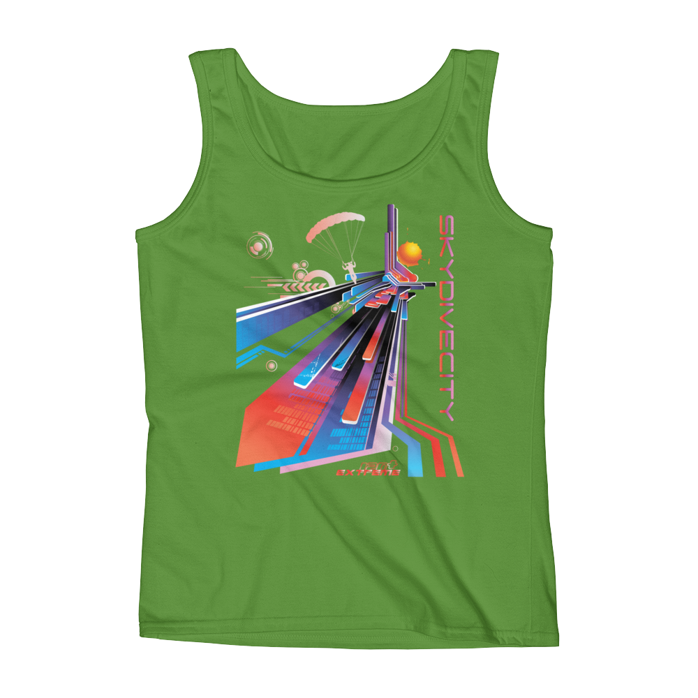 Skydiving T-shirts Ladies' Tank - Skydive City - Sunset, Tanks, eXtreme 120+™ Skydiving Apparel, eXtreme 120+™ Skydiving Apparel, Skydiving Apparel, Skydiving Gear, Olympics, T-Shirts, Skydive Chicago, Skydive City, Skydive Perris, Drop Zone Apparel, USPA, united states parachute association, Freefly, BASE, World Record,