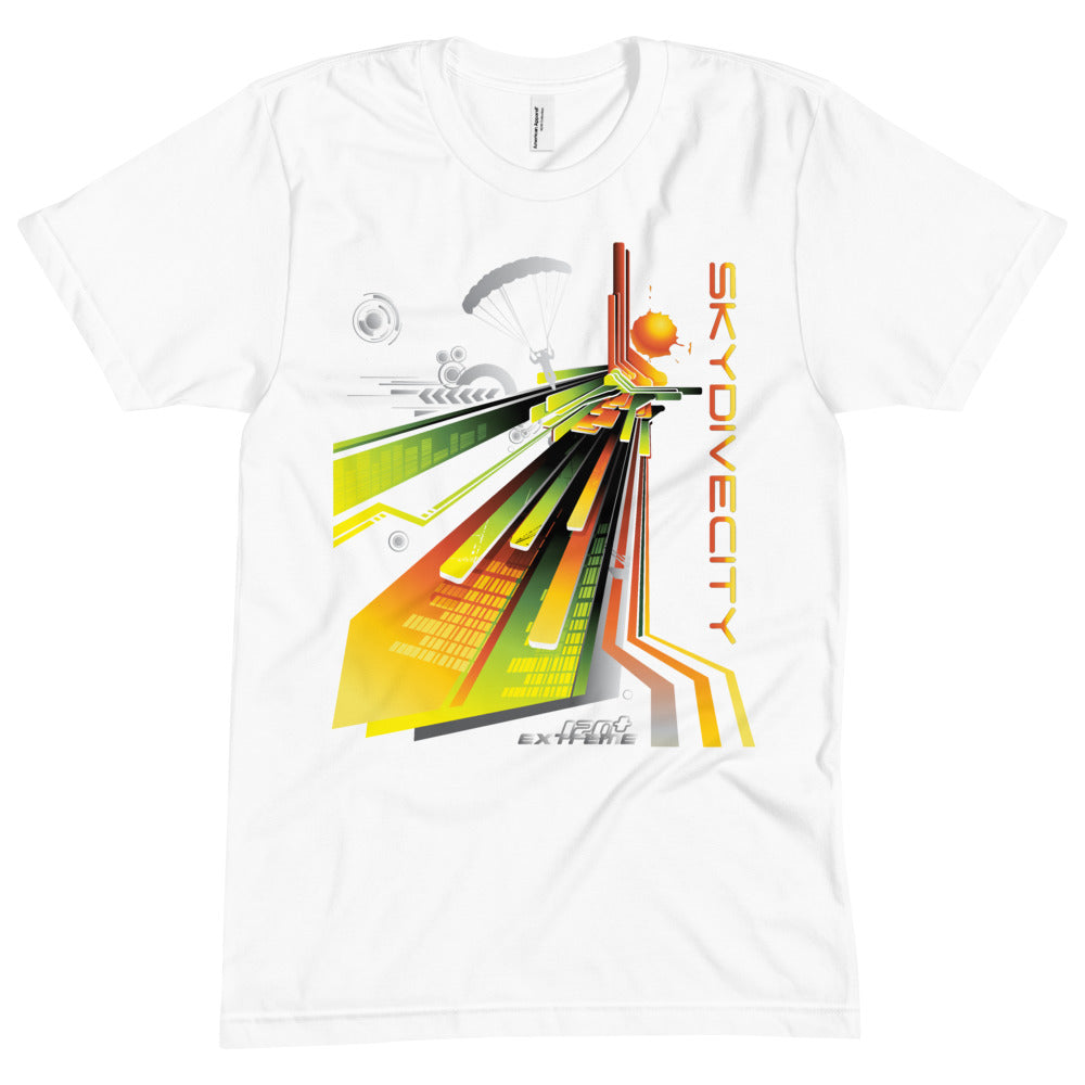 Skydiving T-shirts - Skydive City - Sunrise - Unisex Crew Neck Tee, Shirts, Skydiving Apparel, Skydiving Apparel, Skydiving Apparel, Skydiving Gear, Olympics, T-Shirts, Skydive Chicago, Skydive City, Skydive Perris, Drop Zone Apparel, USPA, united states parachute association, Freefly, BASE, World Record,