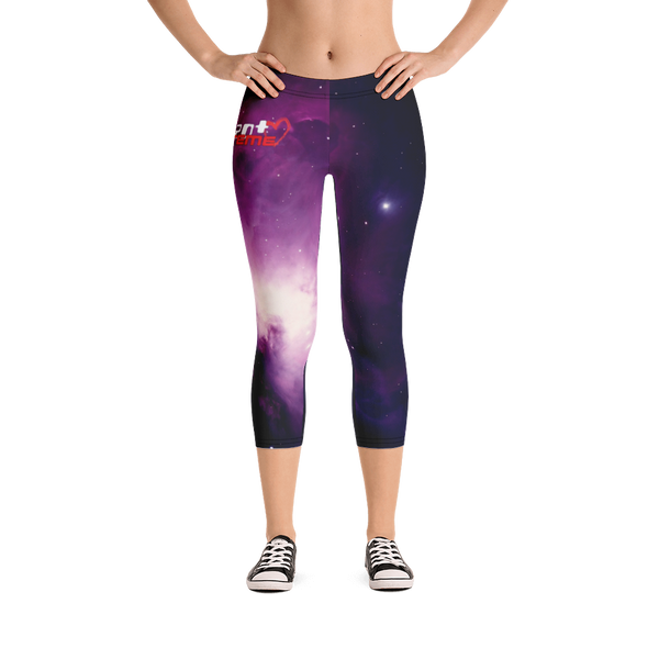 Skydiving T-shirts Galaxy - Orion Purple Nebula - Capri Leggings, , eXtreme 120+™ Skydiving Apparel, Skydiving Apparel, Skydiving Apparel, Skydiving Gear, Olympics, T-Shirts, Skydive Chicago, Skydive City, Skydive Perris, Drop Zone Apparel, USPA, united states parachute association, Freefly, BASE, World Record,