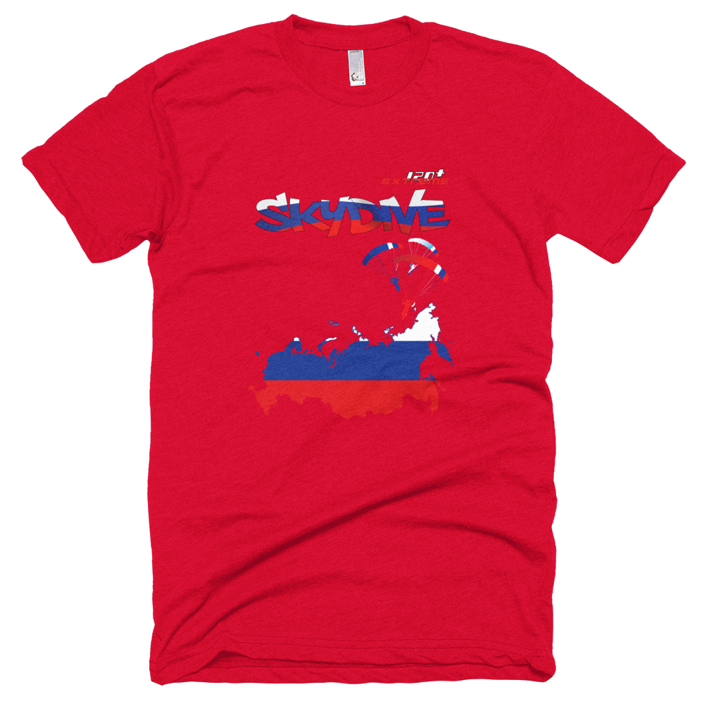 Skydiving T-shirts - Skydive All World - RUSSIA - Unisex Tee -, T-shirt, eXtreme 120+™ Skydiving Apparel, eXtreme 120+™ Skydiving Apparel, Skydiving Apparel, Skydiving Gear, Olympics, T-Shirts, Skydive Chicago, Skydive City, Skydive Perris, Drop Zone Apparel, USPA, united states parachute association, Freefly, BASE, World Record,