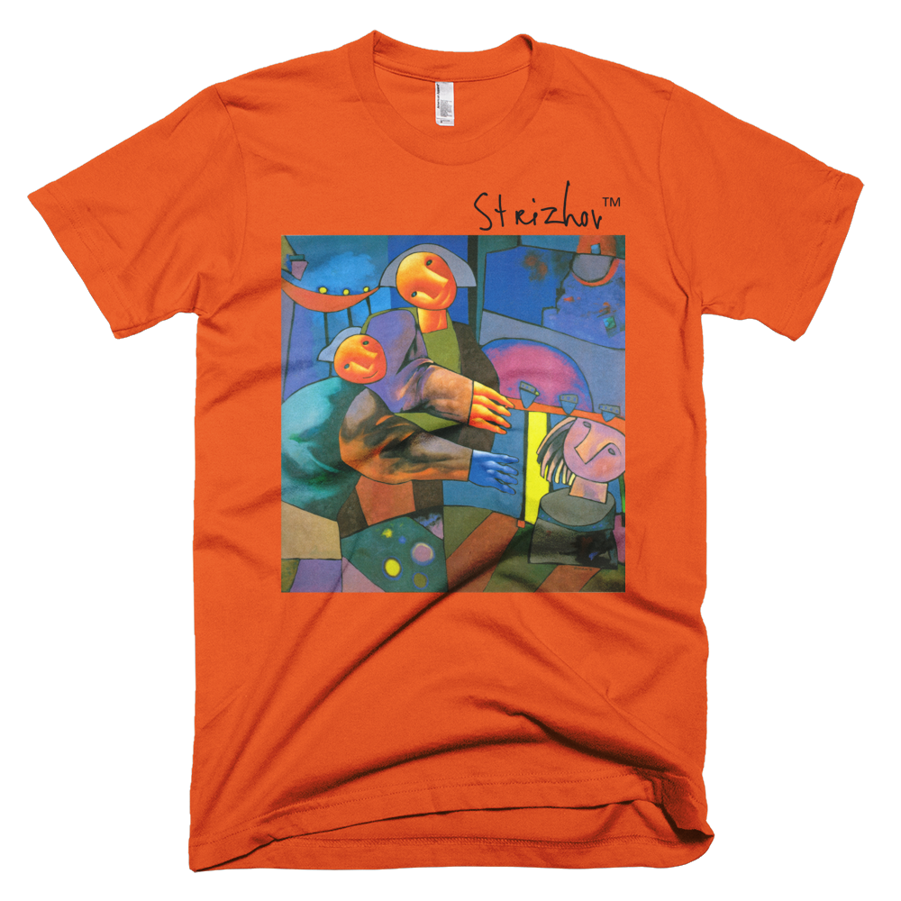 Skydiving T-shirts Strizhov™ by Dmitri Strizhov - 'Sculptors - 1996' - T-Shirt, , Strizhov™, Skydiving Apparel, Skydiving Apparel, Skydiving Gear, Olympics, T-Shirts, Skydive Chicago, Skydive City, Skydive Perris, Drop Zone Apparel, USPA, united states parachute association, Freefly, BASE, World Record,