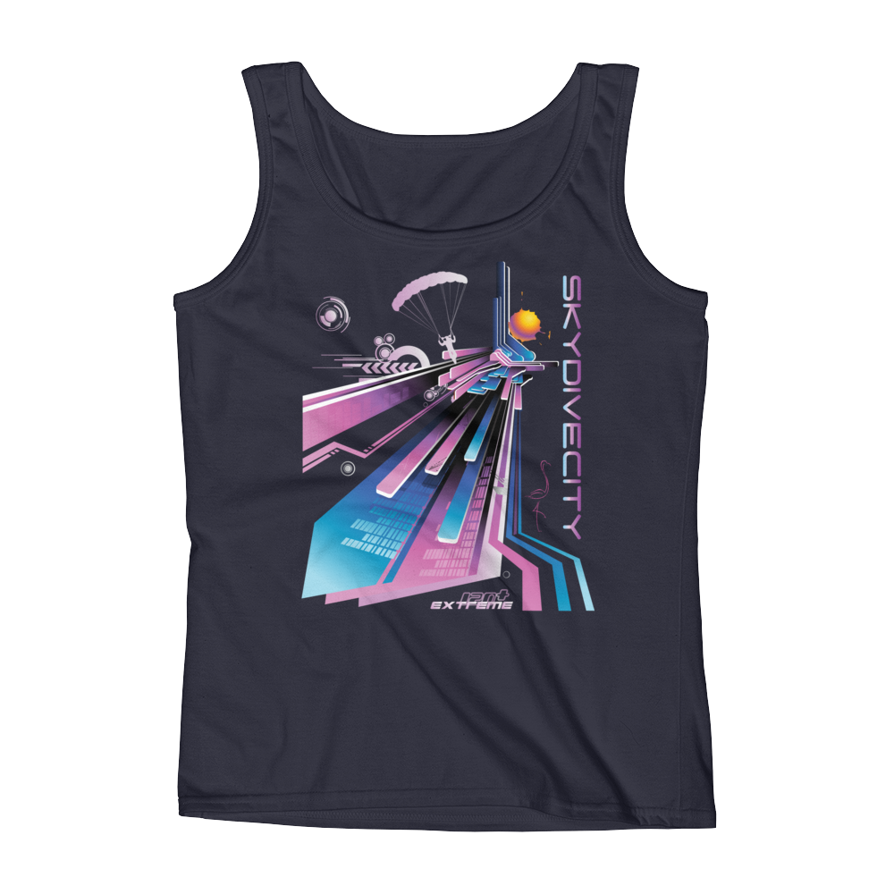Skydiving T-shirts Ladies' Tank - Skydive City - Flamingo, Tanks, Skydiving Apparel, Skydiving Apparel, Skydiving Apparel, Skydiving Gear, Olympics, T-Shirts, Skydive Chicago, Skydive City, Skydive Perris, Drop Zone Apparel, USPA, united states parachute association, Freefly, BASE, World Record,