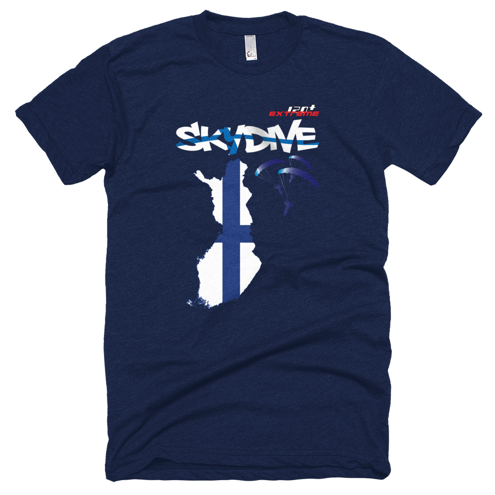 Skydiving T-shirts - Skydive All World - FINLAND - Unisex Tee -, T-shirt, eXtreme 120+™ Skydiving Apparel, Skydiving Apparel, Skydiving Apparel, Skydiving Gear, Olympics, T-Shirts, Skydive Chicago, Skydive City, Skydive Perris, Drop Zone Apparel, USPA, united states parachute association, Freefly, BASE, World Record,