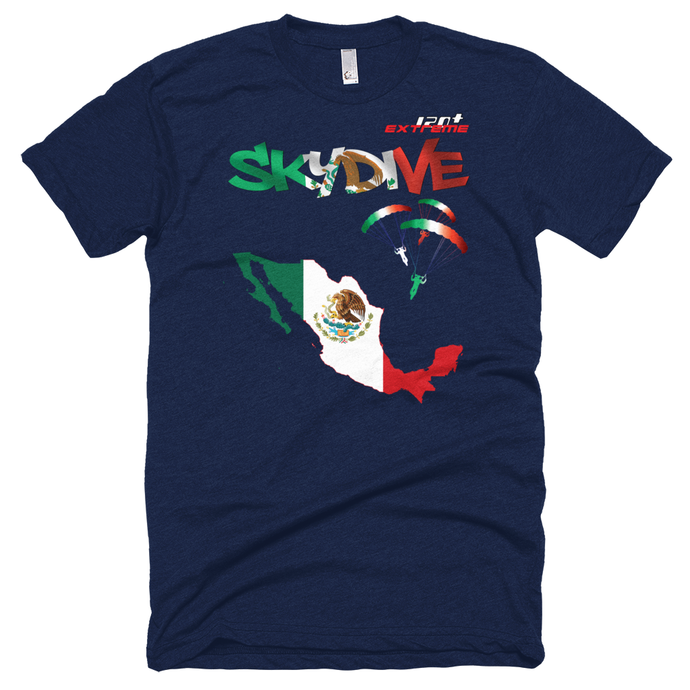 Skydiving T-shirts - Skydive All World - MEXICO - Unisex Tee -, T-shirt, eXtreme 120+™ Skydiving Apparel, Skydiving Apparel, Skydiving Apparel, Skydiving Gear, Olympics, T-Shirts, Skydive Chicago, Skydive City, Skydive Perris, Drop Zone Apparel, USPA, united states parachute association, Freefly, BASE, World Record,