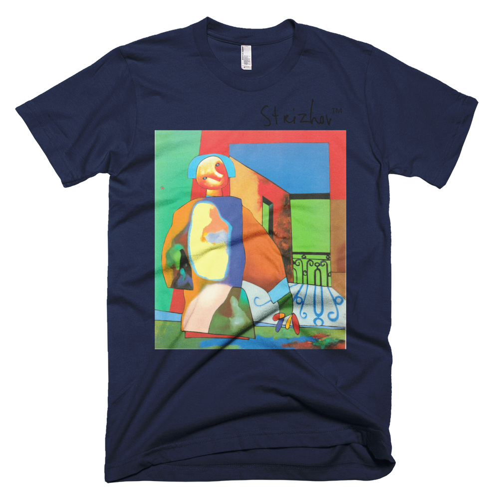 Skydiving T-shirts Strizhov™ by Dmitri Strizhov - 'Man Obstructing a Portion of the Landscape - 1997' - T-Shirt, , Strizhov™, Skydiving Apparel, Skydiving Apparel, Skydiving Gear, Olympics, T-Shirts, Skydive Chicago, Skydive City, Skydive Perris, Drop Zone Apparel, USPA, united states parachute association, Freefly, BASE, World Record,