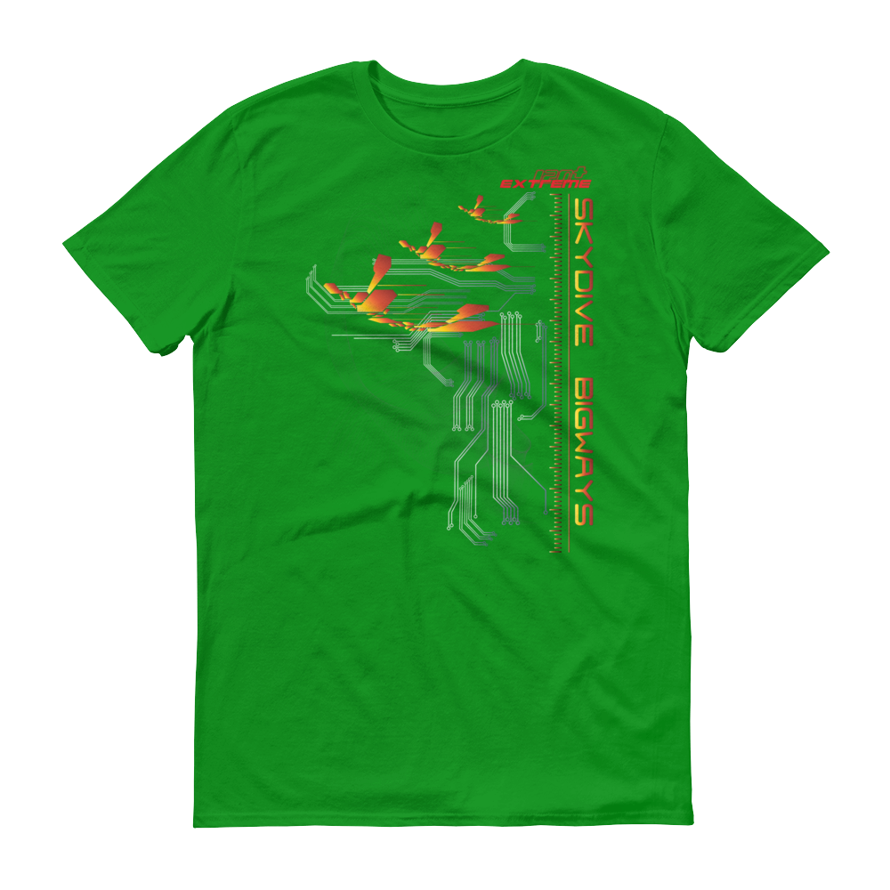 Skydiving T-shirts Skydive BIGWAYS - Men`s Colored T-Shirts, Men's Colored Tees, eXtreme 120+™ Skydiving Apparel, eXtreme 120+™ Skydiving Apparel, Skydiving Apparel, Skydiving Gear, Olympics, T-Shirts, Skydive Chicago, Skydive City, Skydive Perris, Drop Zone Apparel, USPA, united states parachute association, Freefly, BASE, World Record,