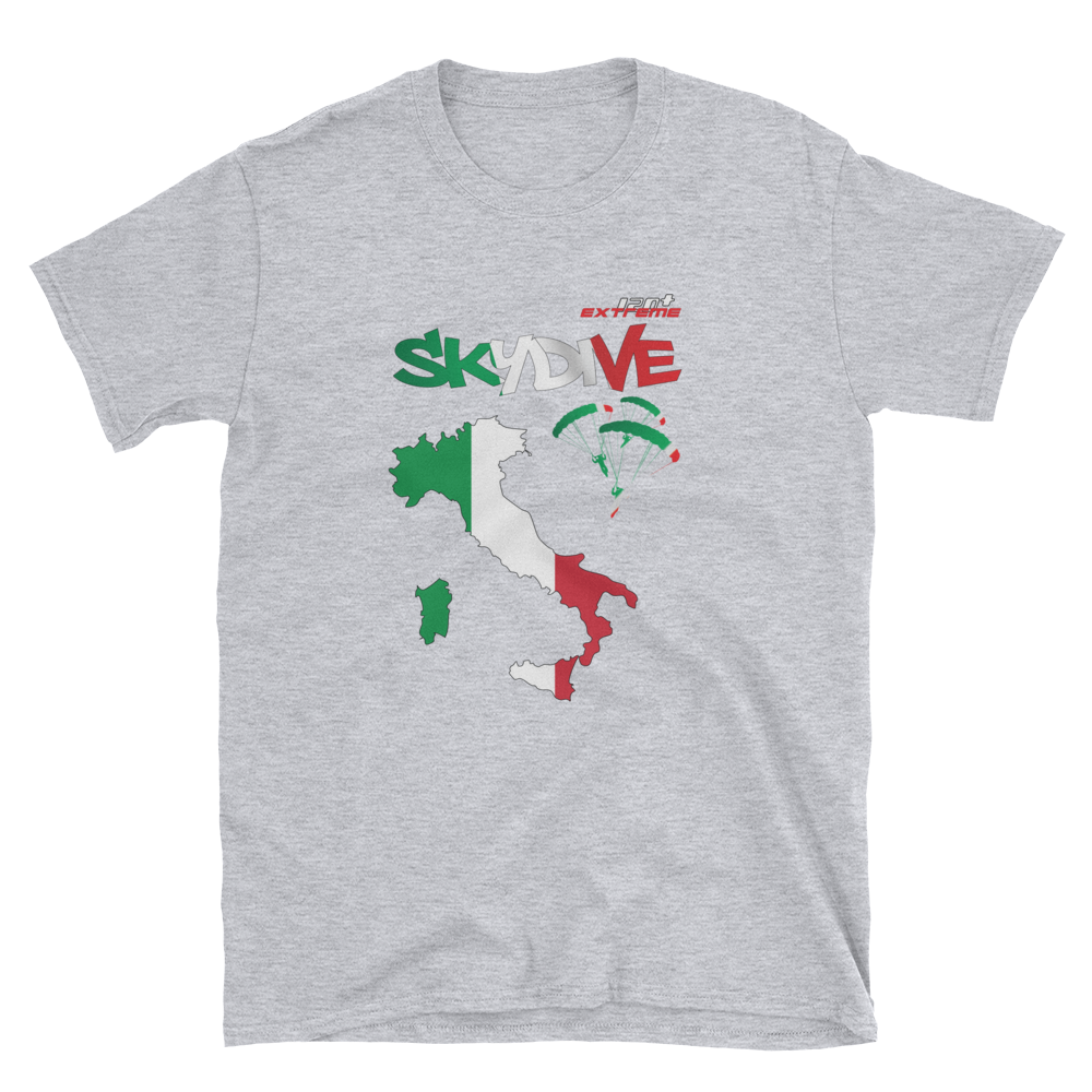 Skydiving T-shirts - Skydive World - ITALY - Cotton Tee -, Shirts, eXtreme 120+™ Skydiving Apparel, eXtreme 120+™ Skydiving Apparel, Skydiving Apparel, Skydiving Gear, Olympics, T-Shirts, Skydive Chicago, Skydive City, Skydive Perris, Drop Zone Apparel, USPA, united states parachute association, Freefly, BASE, World Record,