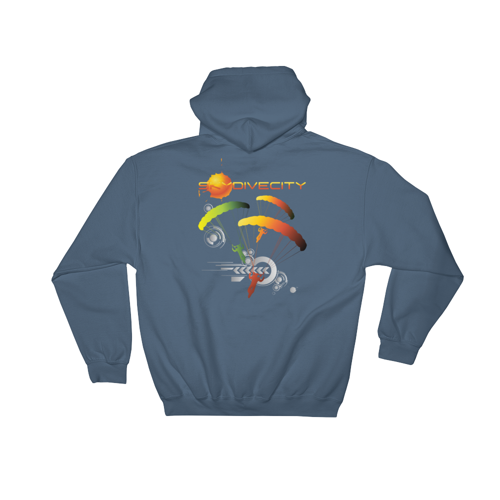 Skydiving T-shirts Skydiving Hoodie - Skydive City - Sunrise - Unisex Hooded Sweatshirt, Hoodies, Skydiving Apparel, Skydiving Apparel, Skydiving Apparel, Skydiving Gear, Olympics, T-Shirts, Skydive Chicago, Skydive City, Skydive Perris, Drop Zone Apparel, USPA, united states parachute association, Freefly, BASE, World Record,