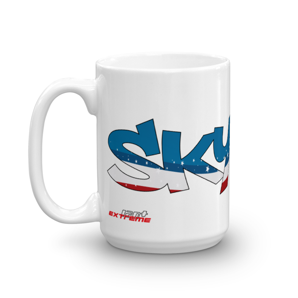 Skydiving T-shirts Skydiving Mug Team USA, Mugs, eXtreme 120+™ Skydiving Apparel, eXtreme 120+™ Skydiving Apparel, Skydiving Apparel, Skydiving Gear, Olympics, T-Shirts, Skydive Chicago, Skydive City, Skydive Perris, Drop Zone Apparel, USPA, united states parachute association, Freefly, BASE, World Record,