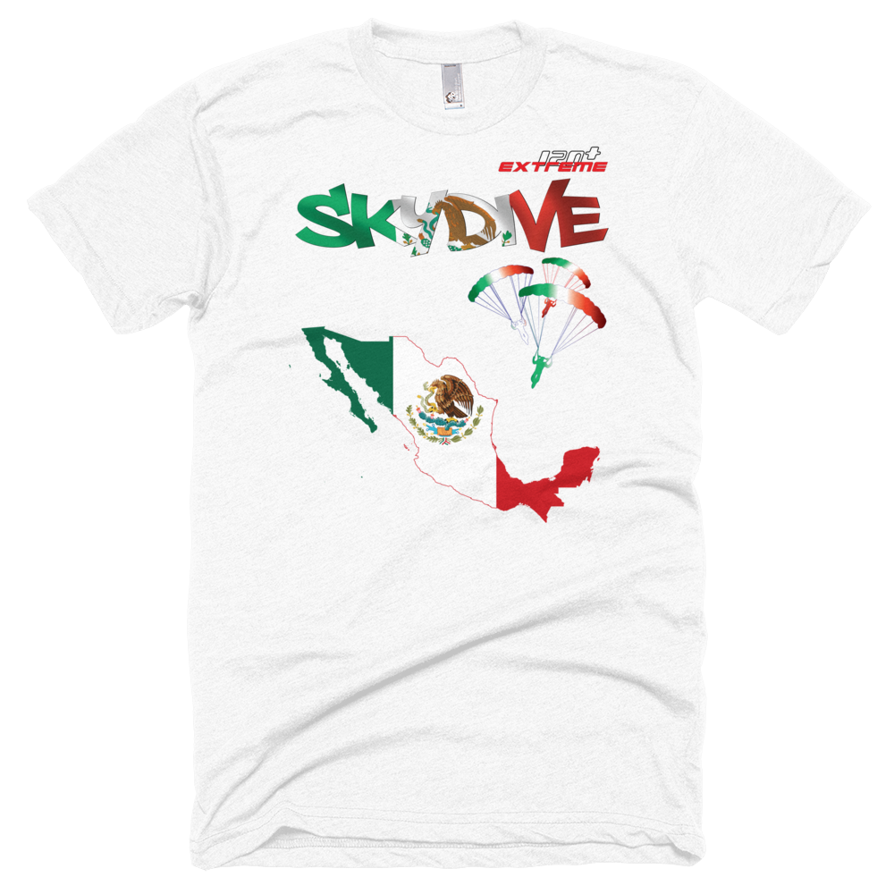 Skydiving T-shirts - Skydive All World - MEXICO - Unisex Tee -, T-shirt, SkydivingApparel™, Skydiving Apparel, Skydiving Apparel, Skydiving Gear, Olympics, T-Shirts, Skydive Chicago, Skydive City, Skydive Perris, Drop Zone Apparel, USPA, united states parachute association, Freefly, BASE, World Record,