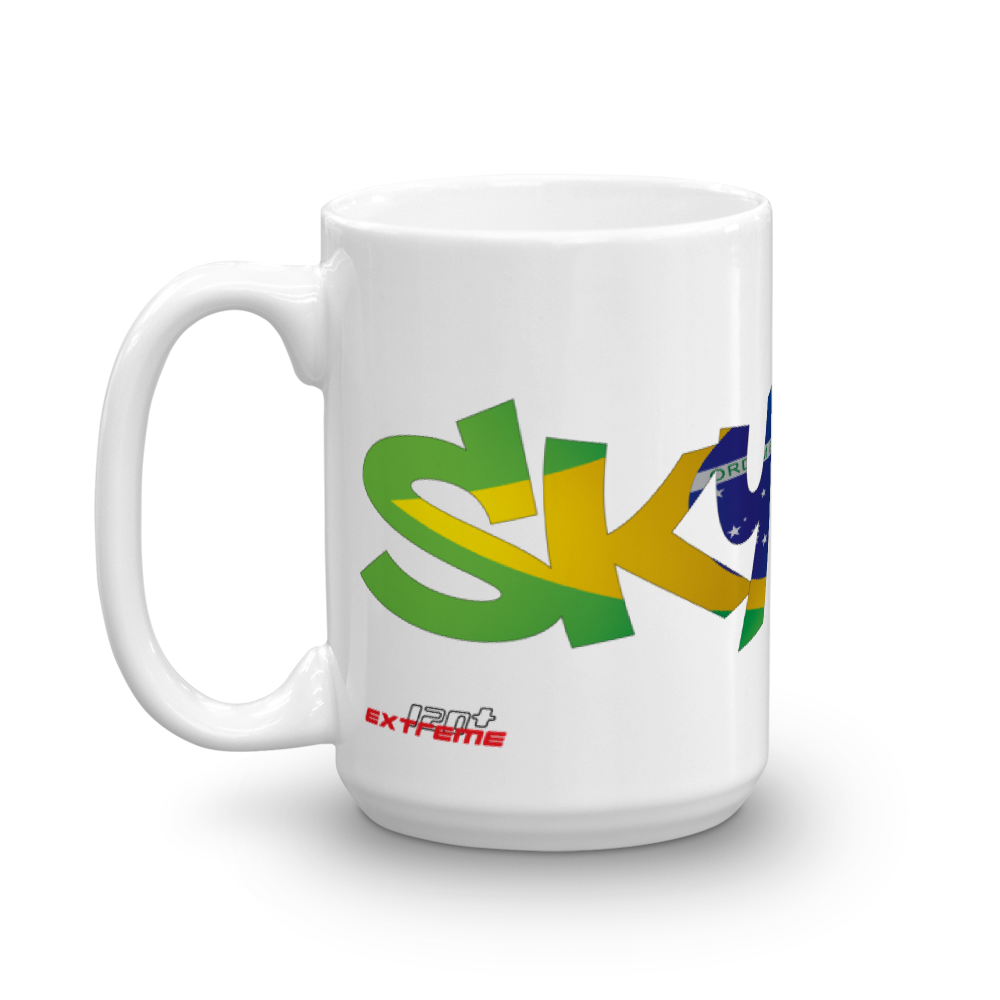 Skydiving T-shirts Skydiving Mug Team Brazil, White Mugs, Skydiving Apparel, Skydiving Apparel, Skydiving Apparel, Skydiving Gear, Olympics, T-Shirts, Skydive Chicago, Skydive City, Skydive Perris, Drop Zone Apparel, USPA, united states parachute association, Freefly, BASE, World Record,