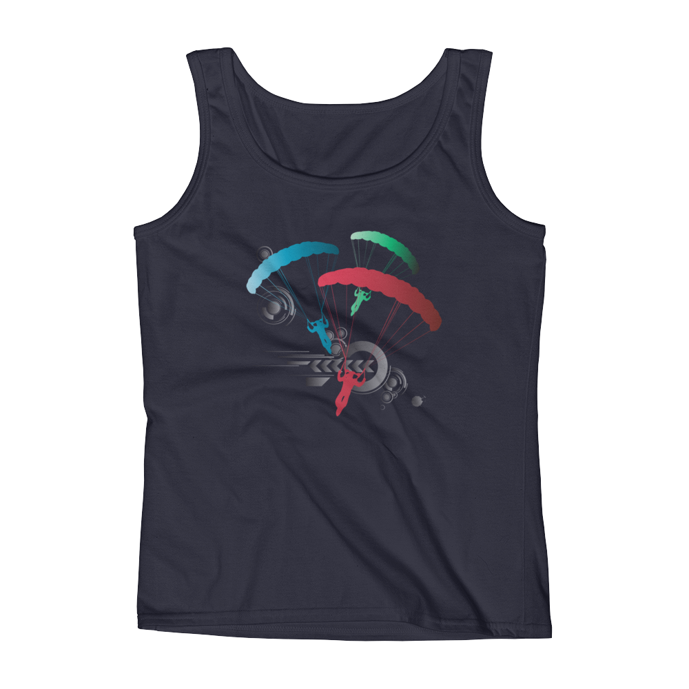 Skydiving T-shirts Ladies' Tank - Skydive Competition, Tanks, eXtreme 120+™ Skydiving Apparel, eXtreme 120+™ Skydiving Apparel, Skydiving Apparel, Skydiving Gear, Olympics, T-Shirts, Skydive Chicago, Skydive City, Skydive Perris, Drop Zone Apparel, USPA, united states parachute association, Freefly, BASE, World Record,