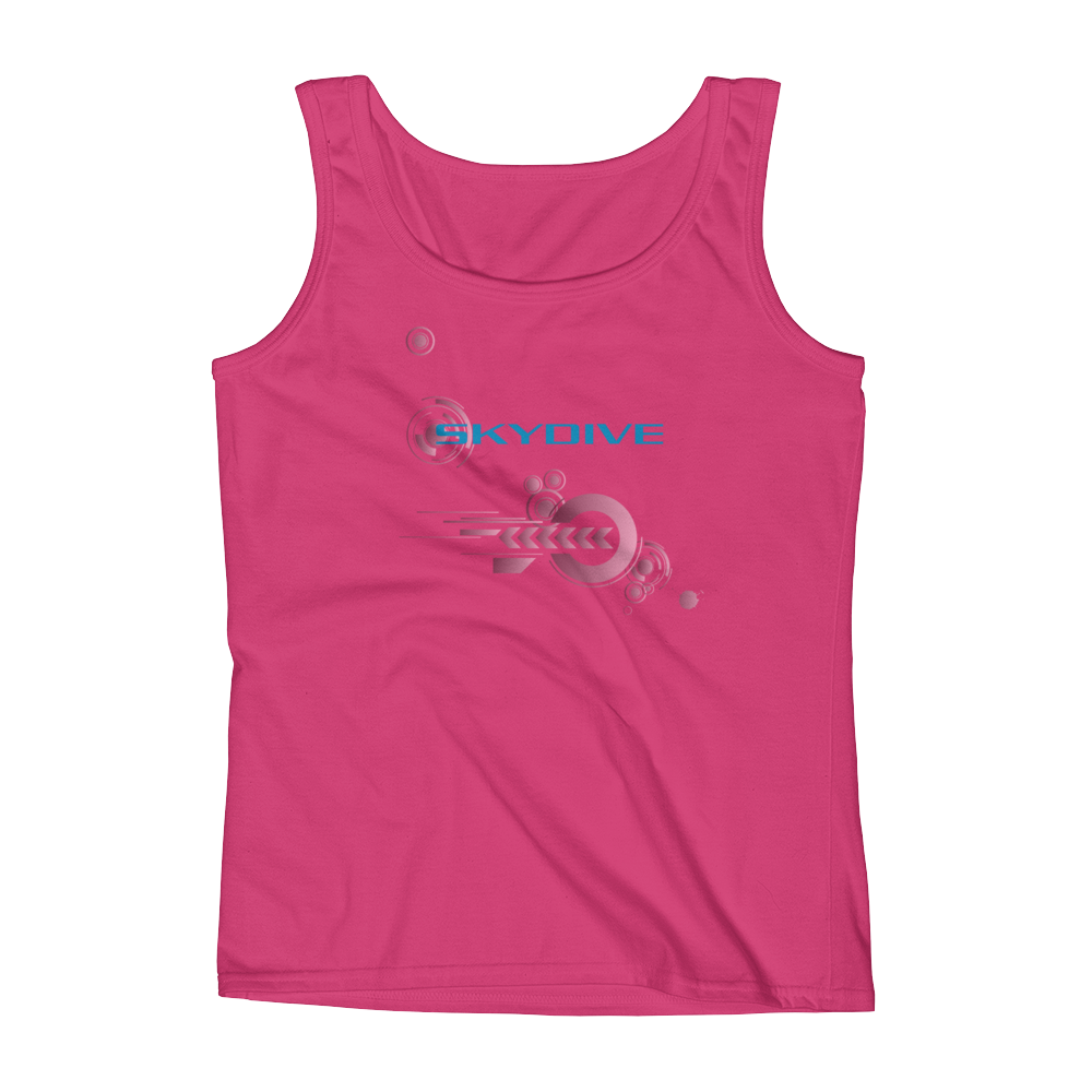Skydiving T-shirts Ladies' Tank - Skydive Competition - Silver Edition, Tanks, SkydivingApparel™, Skydiving Apparel, Skydiving Apparel, Skydiving Gear, Olympics, T-Shirts, Skydive Chicago, Skydive City, Skydive Perris, Drop Zone Apparel, USPA, united states parachute association, Freefly, BASE, World Record,