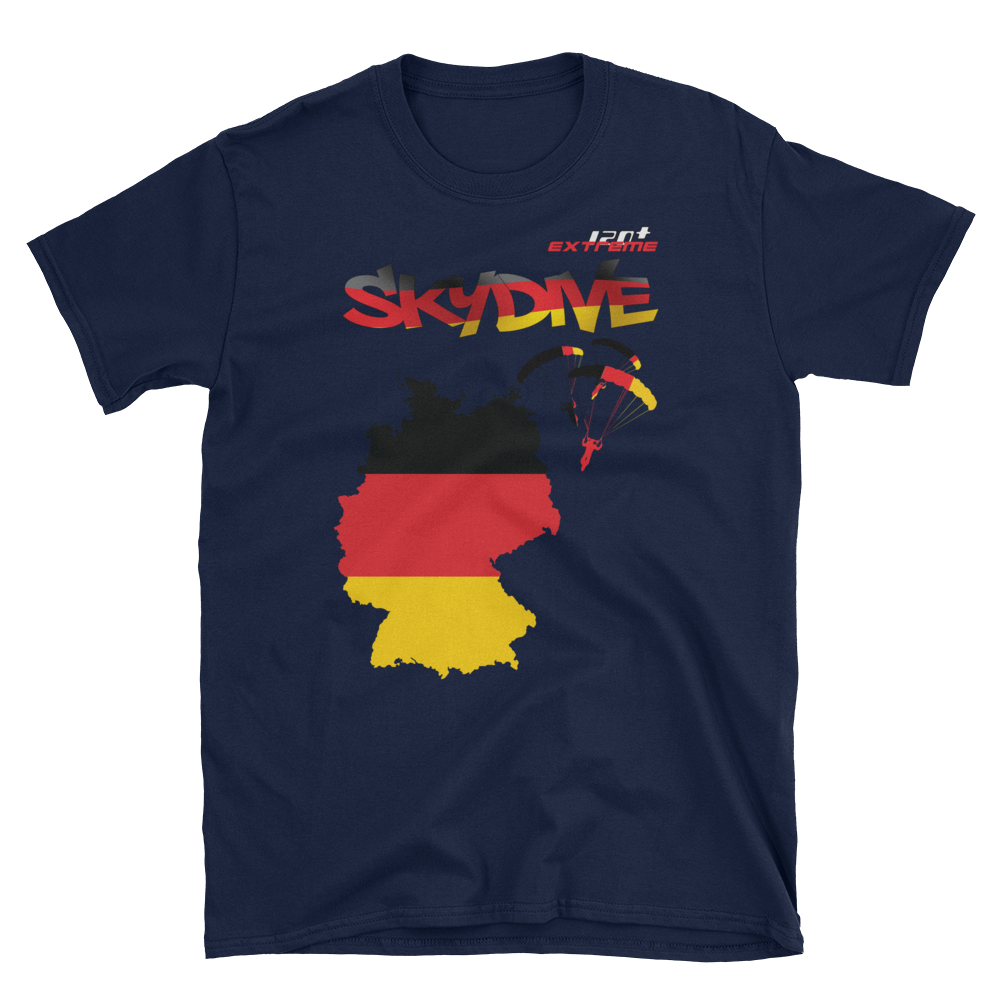 Skydiving T-shirts - Skydive World - GERMANY - Cotton Tee -, Shirts, Skydiving Apparel, Skydiving Apparel, Skydiving Apparel, Skydiving Gear, Olympics, T-Shirts, Skydive Chicago, Skydive City, Skydive Perris, Drop Zone Apparel, USPA, united states parachute association, Freefly, BASE, World Record,