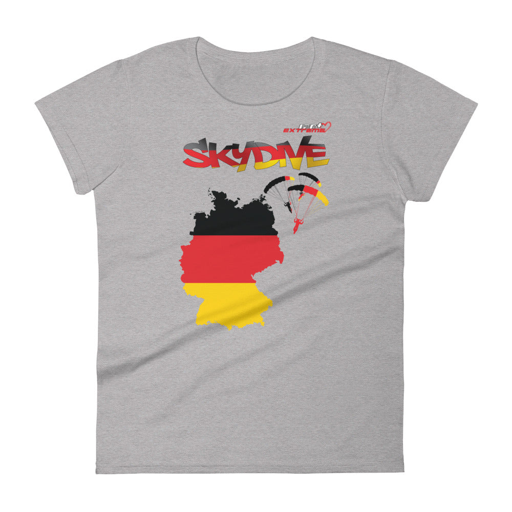 Skydiving T-shirts - Skydive All World - GERMANY - Ladies' Tee -, Shirts, Skydiving Apparel, Skydiving Apparel, Skydiving Apparel, Skydiving Gear, Olympics, T-Shirts, Skydive Chicago, Skydive City, Skydive Perris, Drop Zone Apparel, USPA, united states parachute association, Freefly, BASE, World Record,