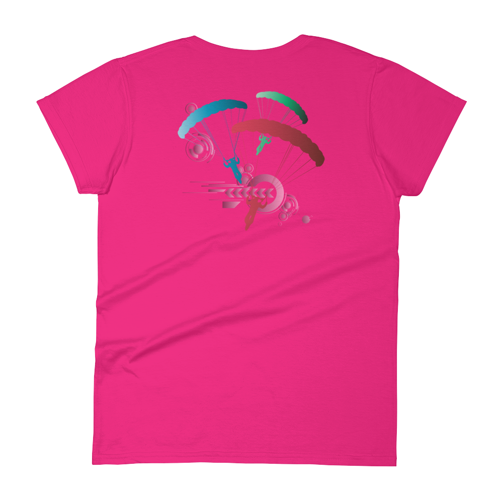 Skydiving T-shirts Skydive Competition - Full Edition - Women`s Colored T-Shirts, Women's Colored Tees, eXtreme 120+™ Skydiving Apparel, eXtreme 120+™ Skydiving Apparel, Skydiving Apparel, Skydiving Gear, Olympics, T-Shirts, Skydive Chicago, Skydive City, Skydive Perris, Drop Zone Apparel, USPA, united states parachute association, Freefly, BASE, World Record,