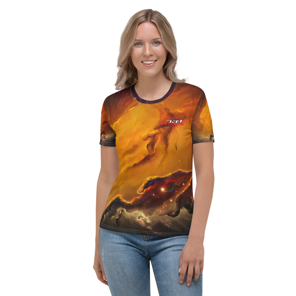 Skydiving T-shirts Cosmo - Nebula Interstellar - Galaxy - Milky-Way - Women's sublimation t-shirt, T-shirt, Skydiving Apparel, Skydiving Apparel, Skydiving Apparel, Skydiving Gear, Olympics, T-Shirts, Skydive Chicago, Skydive City, Skydive Perris, Drop Zone Apparel, USPA, united states parachute association, Freefly, BASE, World Record,